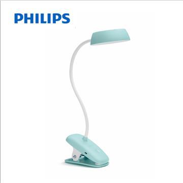 飛利浦酷皓USB充電LED夾燈-寶貝綠