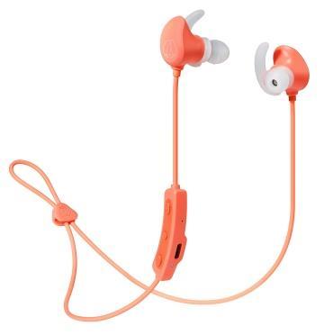 Audio-Technica鐵三角 運動藍牙耳機 珊瑚粉