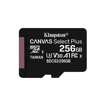 金士頓 MicroSDCS2(C10) UHS-I 256GB記憶卡