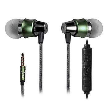 INTOPIC 入耳式鋁合金耳機麥克風-綠