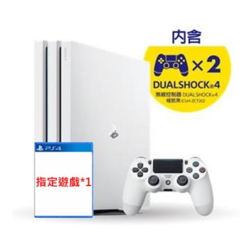 【組合包】PS4 Pro 1TB 控制器同捆組(白)