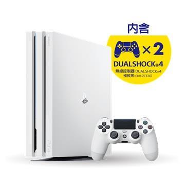 PS4 Pro 1TB 控制器同捆組(白)