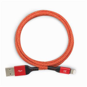 CONNETE Lightning USB 快充傳輸線1.2m-紅