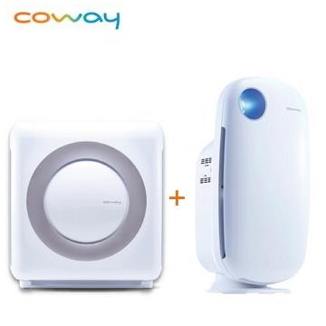 (超值雙機組)Coway 18坪旗艦環禦型空氣清淨機 + Coway加護抗敏型空氣清淨機 AP-1009CH