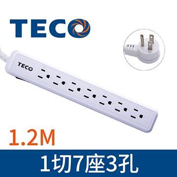 東元TECO 1切7座3孔1.2M延長線