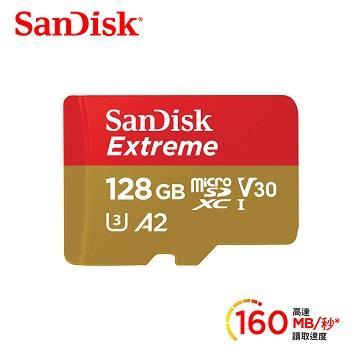 SanDisk晟碟 Extreme microSDXC A2 128G記憶卡