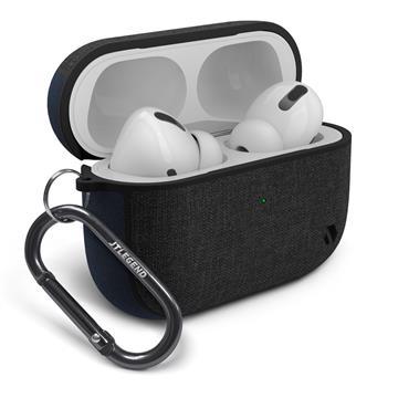 JTLEGEND AirPods Pro Amos布紋保護殼-深藍