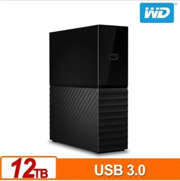 WD威騰  My Book 3.5吋 12TB 外接硬碟 WDBBGB0120HBK-SESN