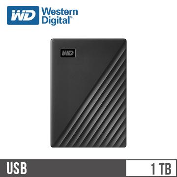 WD 2.5吋 1TB 行動硬碟My Passport(黑)