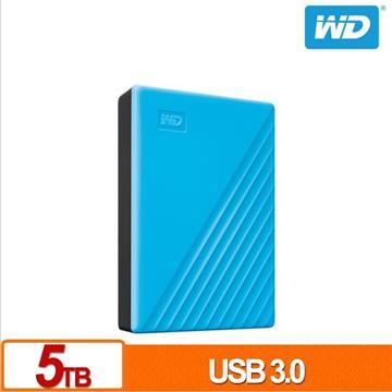 WD 2.5吋 5TB 行動硬碟My Passport(藍)