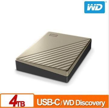WD 2.5吋 4TB行動硬碟My Passport Ultra(金