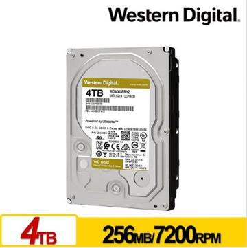 WD威騰 3.5吋 4TB SATA企業級硬碟 金標 WD4003FRYZ-01F0DB0