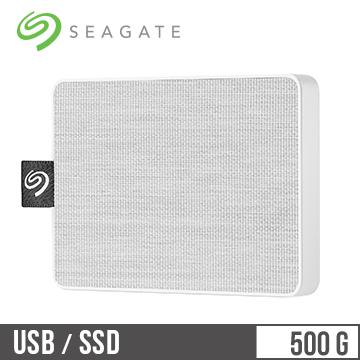 Seagate希捷 One Touch 500GB 外接SSD硬碟 晨霧白