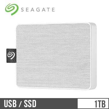 Seagate希捷 One Touch 1TB 外接SSD硬碟 晨霧白