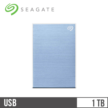 Seagate希捷 Backup Plus Slim 2.5吋 1TB行動硬碟 冰川藍