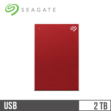 Seagate 2.5吋 2TB行動硬碟 Plus Slim-紅