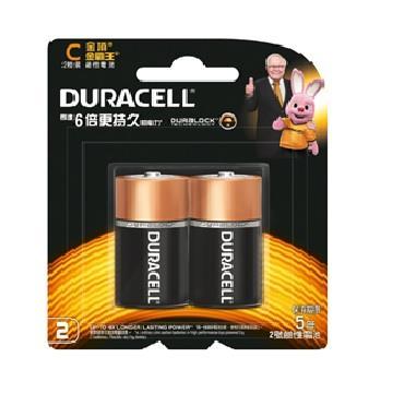 金頂DURACELL 金霸王鹼性電池2號2入