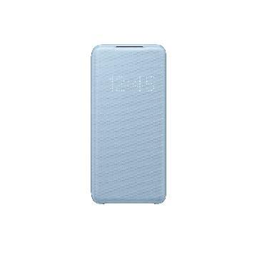 三星SAMSUNG S20 原廠LED皮革翻頁皮套-藍