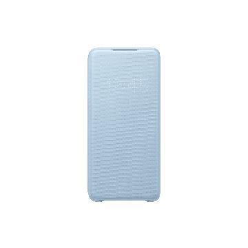 三星SAMSUNG S20+ 原廠LED皮革翻頁皮套-藍