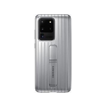 三星SAMSUNG S20 Ultra 原廠立架式保護皮套-銀