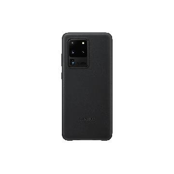 SAMSUNG Galaxy S20 Ultra 原廠皮革背蓋-黑