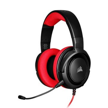 CORSAIR HS35 立體聲遊戲耳機-紅