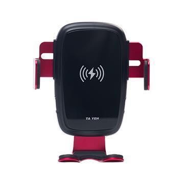 【安伯特】無線充電手機架-紅 附頭枕