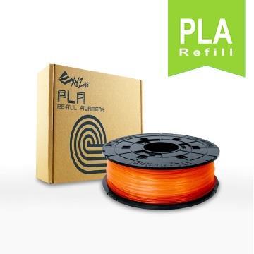 XYZ Printing 3D列印PLA線材補充包(透明橘)