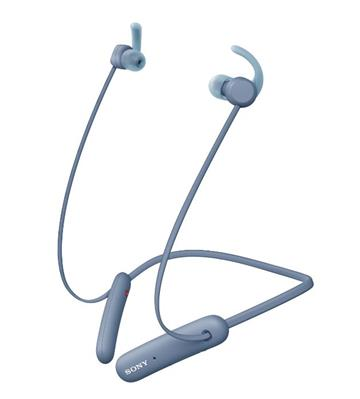 (福利品)SONY索尼 無線藍牙頸掛式耳機-藍