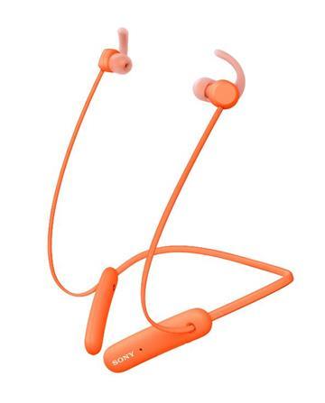 (福利品)SONY索尼 無線藍牙頸掛式耳機-橘