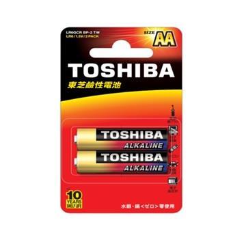 東芝TOSHIBA 鹼性3號電池2入卡裝