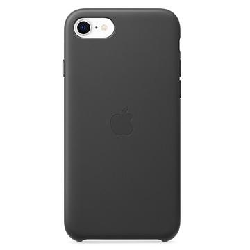 Apple iPhone SE 皮革保護殼-黑色