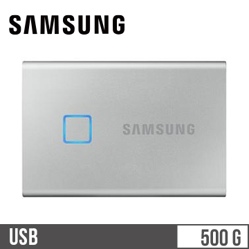 SAMSUNG T7 Touch 500GB SSD行動硬碟-銀