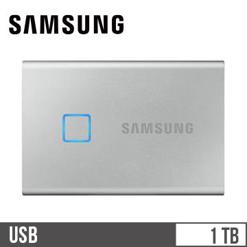 SAMSUNG三星 T7 Touch USB 3.2 1TB 移動固態硬碟 銀