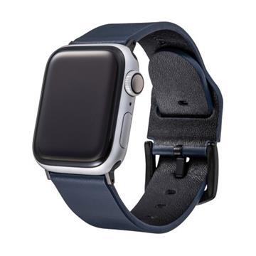 Gramas Apple Watch 44/42mm真皮錶帶-藍
