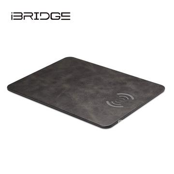 iBRIDGE IBW002無線充電皮革滑鼠墊-黑