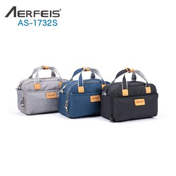 AERFEIS 帆布手提側背相機包 小 AS-1732S 黑