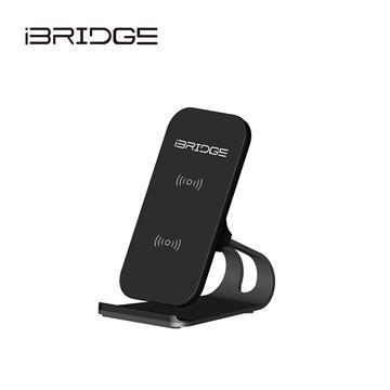 iBRIDGE 立架式雙線圈無線充電盤-黑