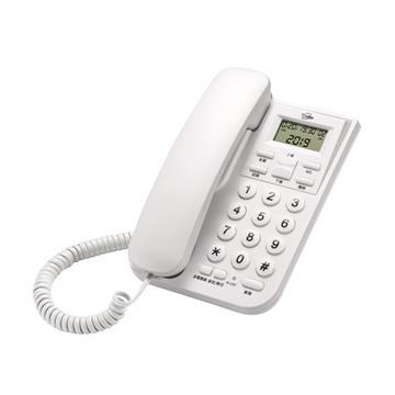T.C.STAR 來電顯示有線電話 白