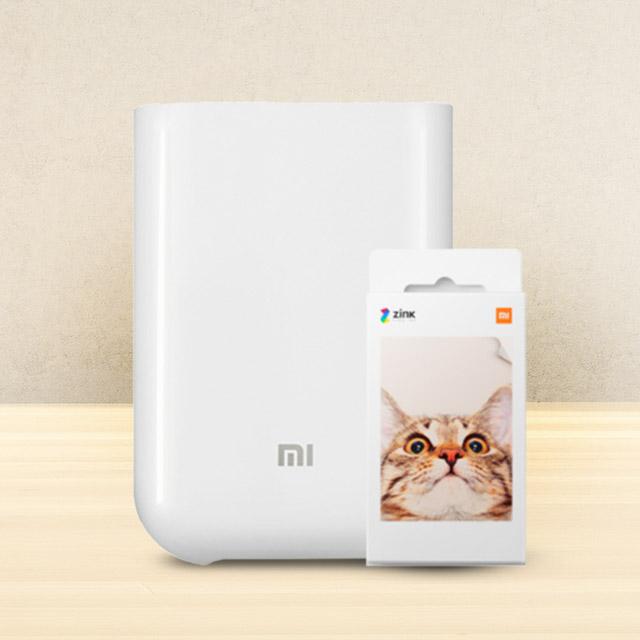 (製造回憶組合)小米便攜相片印表機 + 小米便攜印表機即貼相紙