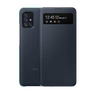SAMSUNG Galaxy A51 5G原廠透視感應皮套-黑