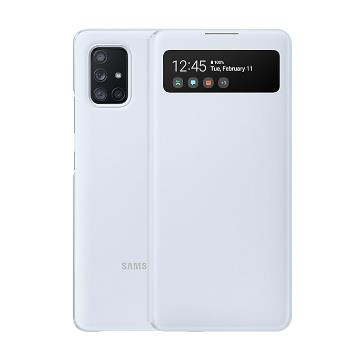 SAMSUNG Galaxy A71 5G原廠透視感應皮套-白