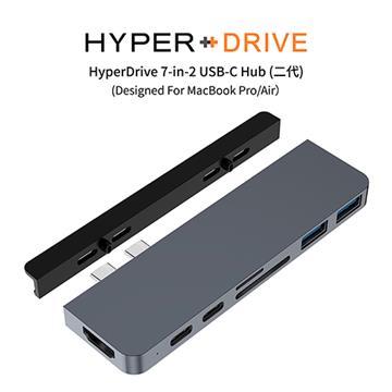 HyperDrive 7-in-2 USB-C Hub(二代)-太空灰(HD28C-Grey)