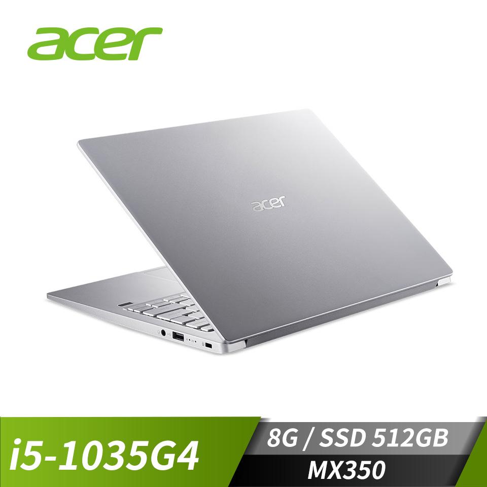 宏碁ACER SF313 筆記型電腦 銀(i5-1035G4/8G/512G/MX350/W10)