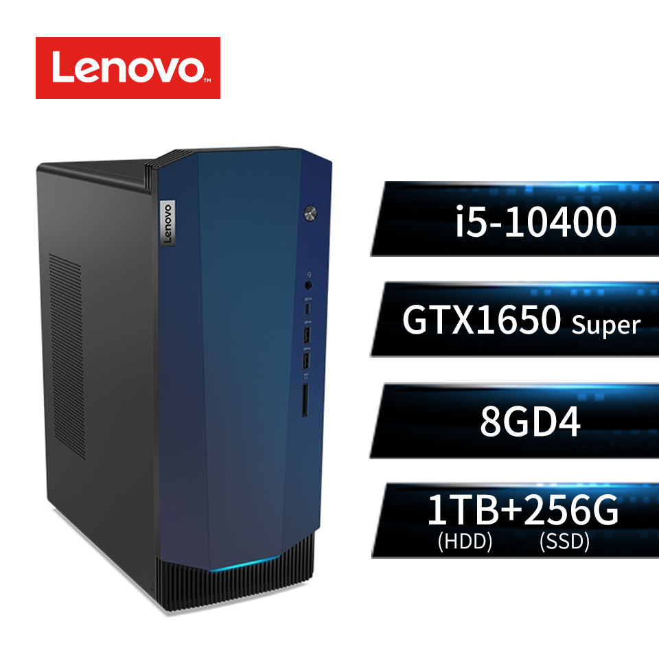 LENOVO聯想 Gaming 5電競桌上型主機(i5-10400/GTX1650 Super/8G/256G+1T) G5-14IMB_90N90086TW