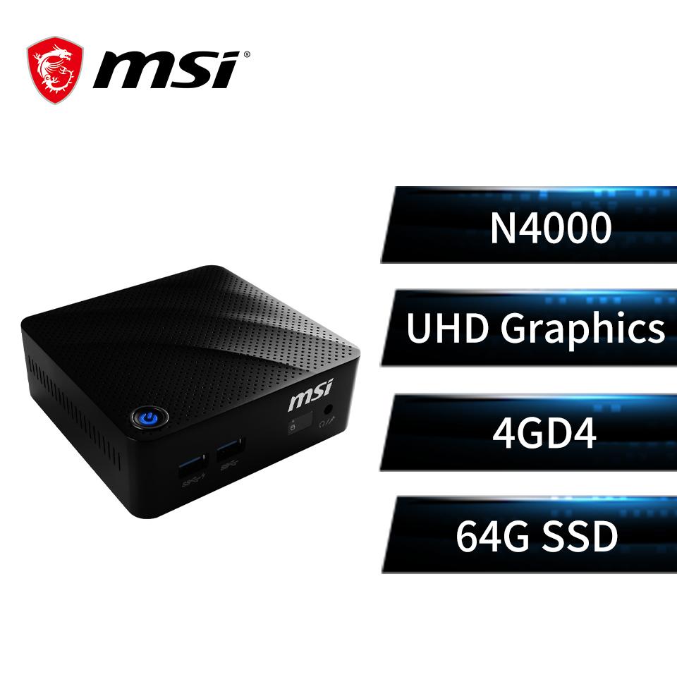 微星msi CUBI N 8GL-091TW 迷你型主機(N4000/4G/64G/W10pro)