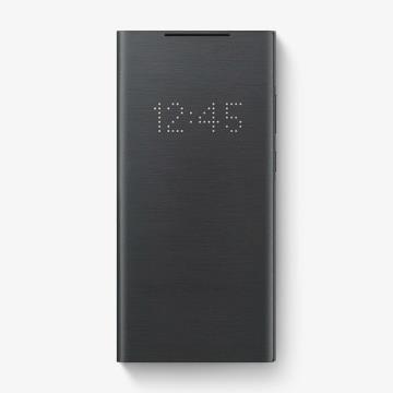 三星SAMSUNG Note20 原廠LED皮革翻頁式皮套 黑