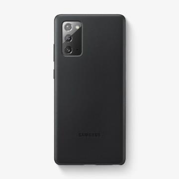 三星SAMSUNG Galaxy Note20 原廠皮革背蓋 黑