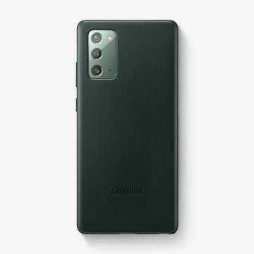 三星SAMSUNG Galaxy Note20 原廠皮革背蓋 綠