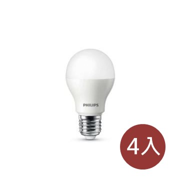 (4入組)飛利浦Philips LED超極光球泡9W 白光
